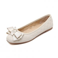 Women basic causal spend comfortable flat shoes square head shoes, white