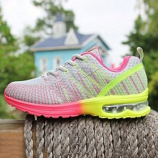 Female sports shoes breathable and comfortable outdoor shoes gray lace