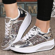 Women ladies sports shoes sequined shoes shake girl fashion sneakers