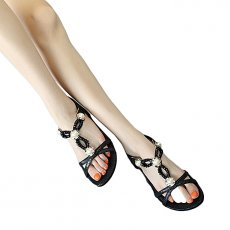 Flat shoes girl sandals shoes rhinestone beads