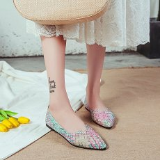 Women casual multicolor All Seasons ballet flat shoes flat slip will SHOES